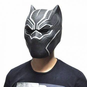 Máscara Fantasia Pantera Negra Puma Preto Festa Codplay Top