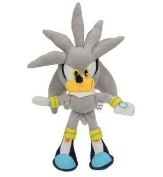Sonic Hedgehog Silver Pelúcia 26cm Pronta Entrega