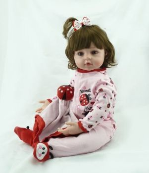 Boneca Bebê Reborn Silicone Realista Pronta Entrega 58cm