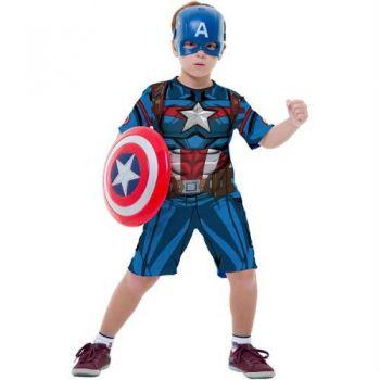 Fantasia Capitão América Infantil Curta