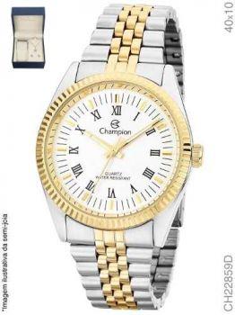 Relógio Champion Dourado Feminino Com Colar Ch22859d