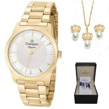 Relógio Champion Feminino Cn27492w + Kit Brinde + Nf