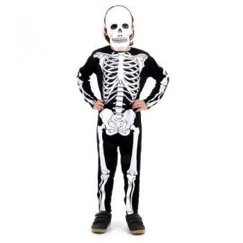 Fantasia Esqueleto Glow Infantil Luxo Halloween