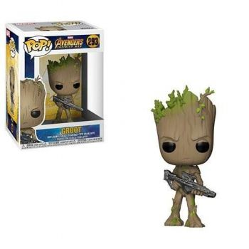 Boneco Funko Pop Teen Groot Guardiões Da Galaxia Vingadores