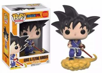 Dragon Ball Z Boneco Goku & Nimbus Pop Animation Funko 10cms