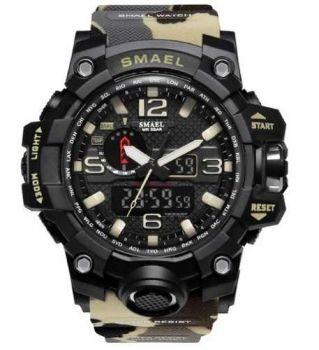 Relógio Masculino G-shock Smael 1545 Prova D'água Camuflado