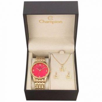 Relógio Champion Kit Feminino Cn26082j