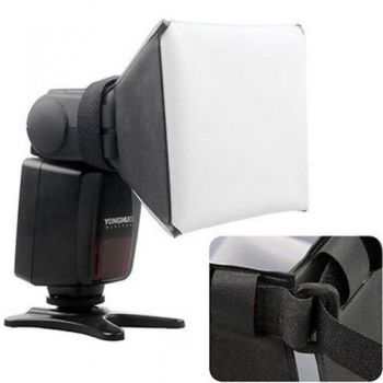Mini Softbox Para Flash Speedlight Difusor Rebatedor 10x13cm