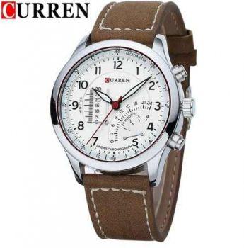 Relógio Masculino Sport Curren 8152-3 Original Couro Marrom