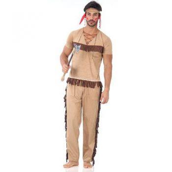 Fantasia De Índio Adulto Luxo Sulamericana