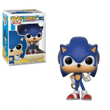 Sonic Hedgehog Boneco Pop Funko Sonic Com Anel #283