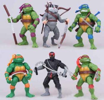 Tartarugas Ninja Nickelodeon 6 Bonecos 12cm