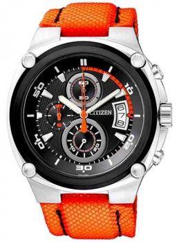 Relógio Citizen Cronógrafo An3455-05e/tz30035j Preto/laranja