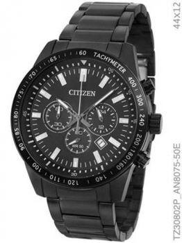 Relógio Citizen Masculino Preto Aço Tz30802p