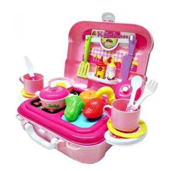 Brinquedo Maleta Playset Mini Chef 26 Pçs 3 Em 1 - Xalingo