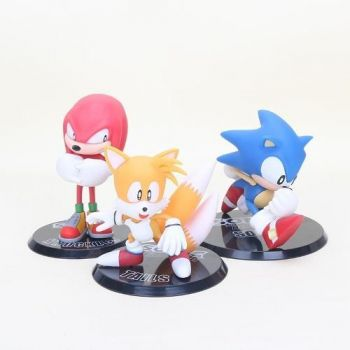 Boneco Figure Sonic The Hedgehod Tails Knuckles Estatueta