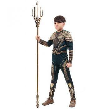 Fantasia Aquaman Infantil Luxo Liga Da Justiça 2 A 12 Anos