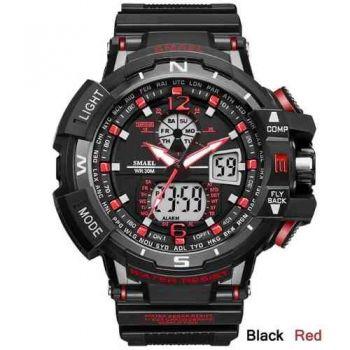 Relógio Masculino Militar G-shock Smael Ws1376 Vermelho