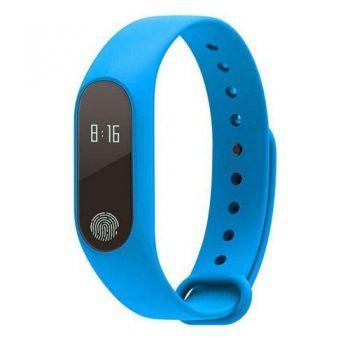 Pulseira Inteligente Sport M2 Monitor Cardiaco Azul