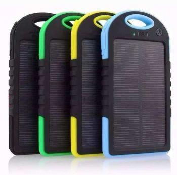 Carregador Solar Portátil Usb Universal Power Bank P/ D'água
