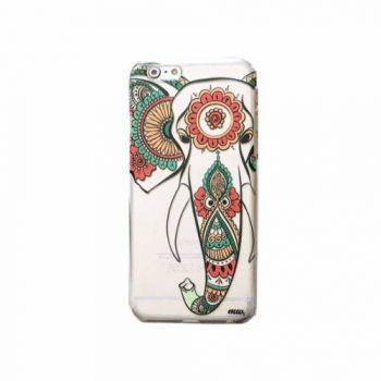 Capinha Case Capa Acrílico Iphone 6 Plus Elefante Mandalas