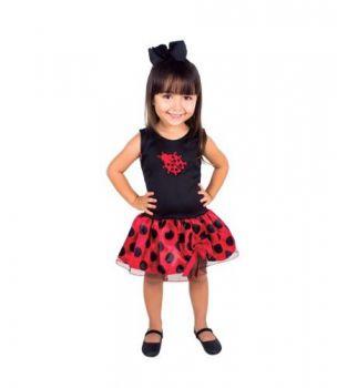 Fantasia Infantil Joaninha Ladybug
