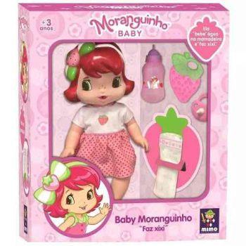 Boneca Baby Moranguinho Faz Xixi - Com Acessórios - Mimo