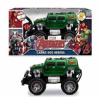 Brinquedo Carrinho Pick-up Road 4x4 Controle Hulk Vingadores