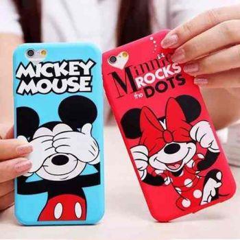 Capa Capinha Case Iphone 6s Minnie Mickey Mouse Disney