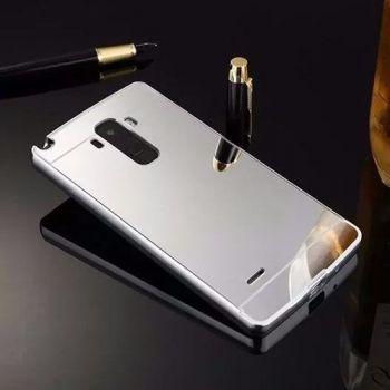 Capa Capinha Bumper Espelhada Celular Lg G4 Stylus H540 H630 Cor Prata