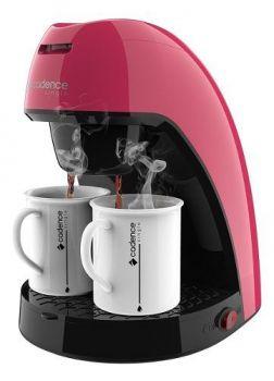 Cafeteira Elétrica 450w Com 2 Xícaras Cadence Rosa
