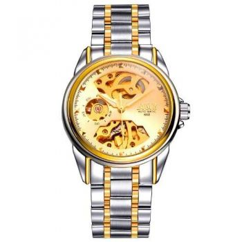 Relógio Bosck Masculino Esqueleto Automático