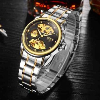 Relógio Masculino Quartz Esqueleto Automático