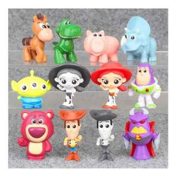 Coleção 12 Bonecos Miniaturas - Toy Story 3 - Woody E Buzz
