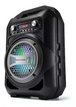 Caixa De Som 6 Em 1 Bluetooth 50w Rms Fm Multilaser Microfone - Sp255