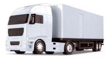 Caminhão Carreta Diamond Truck Baú - 67cm - Roma Brinquedo
