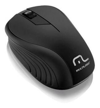 Mouse Sem Fio 1200dpi Usb Nano 2.4ghz Multilaser Mo212