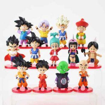 13 Bonecos Dragon Ball Z Goku Vegeta Coleção Miniaturas
