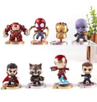 Coleção 8 Miniaturas Os Vingadores 3 Guerra Infinita Boneco