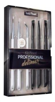Kit Pincel Profissional Para Delinear - Macrilan Wb700