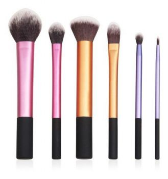 Kit 6 Pincel Profissional Pinceis Maquiagem Esfumar Iluminar