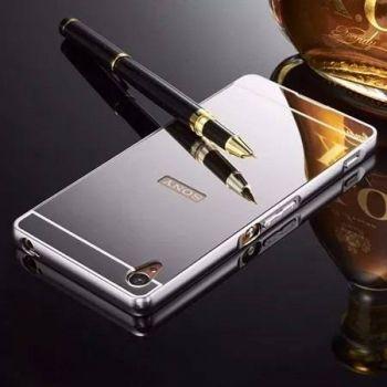 Capinha Bumper Espelhada Luxo Prata P/ Sony Xperia Z3 D6603 D6633