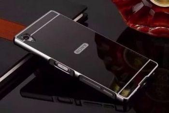 Capinha Bumper Espelhada Luxo Preta Sony Xperia Z3 D6603 D6633