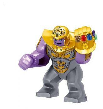 Boneco Thanos Manopla Guerra Infinita Marvel Bloco Monta Tm2