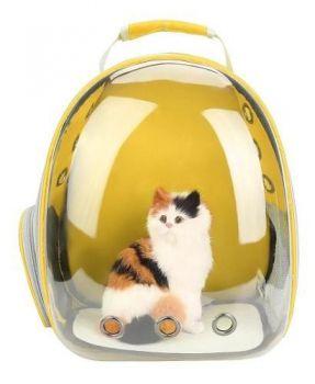 Mochila Pet Visão Panorâmico Astronauta Cachorro Gato Cão