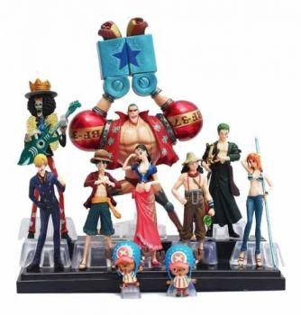 Kit 10 Actions Figure One Piece Anime Bonecos Pronta Entrega