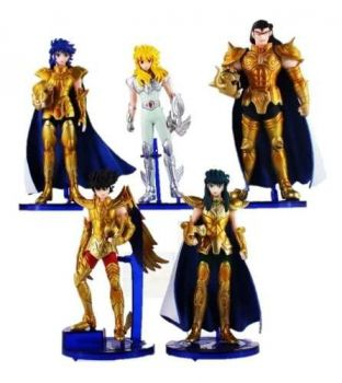 Kit 5 Action Figure Cavaleiros Do Zodíaco Saint Seiya Nº1