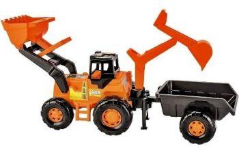 Trator Truck Super Escavadeira Caçamba Completo - Magic Toys