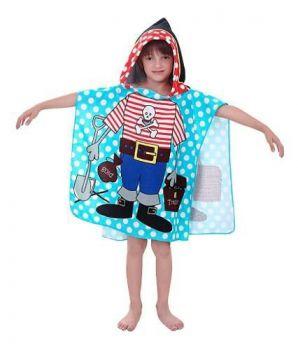 Toalha Infantil Poncho Com Capuz Divertidas E Macias