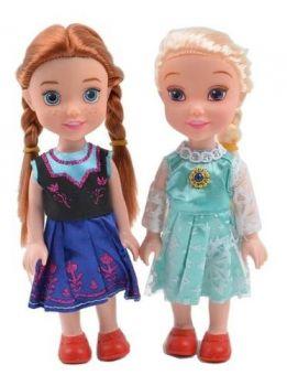 Kit 2 Bonecas Frozen Classica Elsa e Anna Princesas